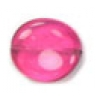 Glass Bead Flat 15/14mm Rose Wavy Oval - Strung